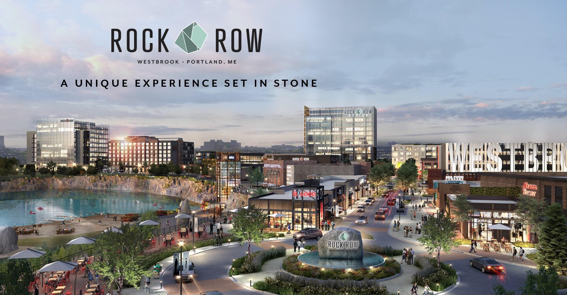 Rock Row   New Mixed-use Development   Portland • Westbrook